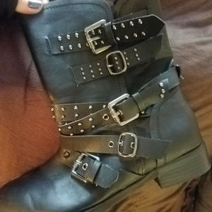 Torrid studded moto booties black size 9